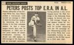1964 Topps Giants #1  Gary Peters   Back Thumbnail