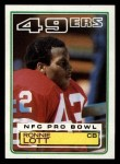 1983 Topps #168  Ronnie Lott  Front Thumbnail