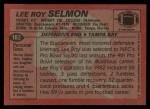 1983 Topps #182  Lee Roy Selmon  Back Thumbnail