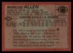 1983 Topps #294  Marcus Allen  Back Thumbnail
