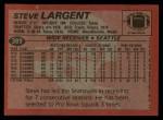 1983 Topps #389  Steve Largent  Back Thumbnail
