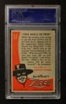 1958 Topps Zorro #17   You Shall Be Free Back Thumbnail