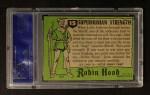 1957 Topps Robin Hood #15   Superhuman Strength Back Thumbnail