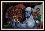 1951 Bowman Jets Rockets and Spacemen #25   Wrestling Saber- Toothed Tiger Front Thumbnail