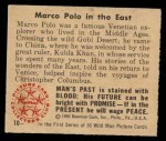 1950 Bowman Wild Man #10   Marco Polo in the East Back Thumbnail