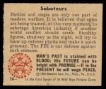 1950 Bowman Wild Man #24   Saboteurs Back Thumbnail