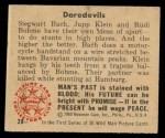1950 Bowman Wild Man #28   Daredevils Back Thumbnail