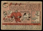 1958 Topps #402  Bobby Gene Smith  Back Thumbnail