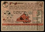 1958 Topps #235  Tom Gorman  Back Thumbnail