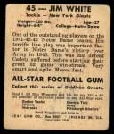 1948 Leaf #45  Jim White  Back Thumbnail