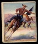 1949 Bowman Wild West #8 E  Bronco Busting Front Thumbnail