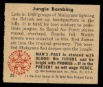 1950 Bowman Wild Man #23   Jungle Bombing Back Thumbnail