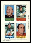 1969 Topps 4-in-1 Football Stamps  Jim Otto / Dave Herman / Dennis Randall / Dave Costa  Front Thumbnail