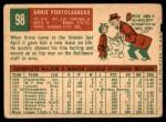 1959 Topps #98  Arnie Portocarrero  Back Thumbnail