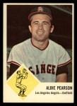1963 Fleer #19  Albie Pearson  Front Thumbnail