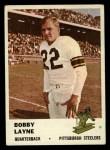 1961 Fleer #117  Bobby Layne  Front Thumbnail