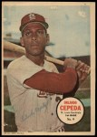 1967 Topps Poster Pin-Up Poster #9  Orlando Cepeda  Front Thumbnail