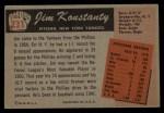 1955 Bowman #231  Jim Konstanty  Back Thumbnail