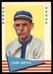 1961 Fleer #36  Clark Griffith  Front Thumbnail