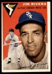 1954 Topps #34 WHT Jim Rivera  Front Thumbnail
