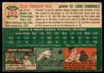 1954 Topps #192  Cot Deal  Back Thumbnail
