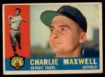 1960 Topps #443  Charlie Maxwell  Front Thumbnail