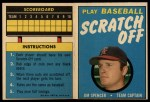 1970 Topps Scratch-Offs  Jim Spencer  Front Thumbnail