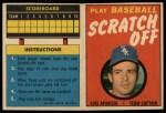 1970 Topps Scratch-Offs  Luis Aparicio  Front Thumbnail