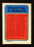 1970 Topps Booklets #21  Bob Moose  Back Thumbnail