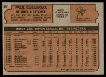 1972 Topps #591  Paul Casanova  Back Thumbnail