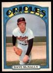 1972 O-Pee-Chee #490  Dave McNally  Front Thumbnail