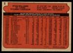 1972 O-Pee-Chee #9  Stan Williams  Back Thumbnail