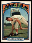 1972 O-Pee-Chee #55  Clyde Wright  Front Thumbnail