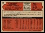 1972 O-Pee-Chee #55  Clyde Wright  Back Thumbnail