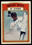 1972 O-Pee-Chee #50   -  Willie Mays In Action Front Thumbnail