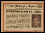1972 O-Pee-Chee #442   -  Thurman Munson In Action Back Thumbnail