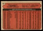 1972 O-Pee-Chee #507  Fred Gladding  Back Thumbnail