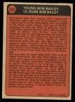 1972 O-Pee-Chee #493   -  Bob Bailey Boyhood Photo Back Thumbnail