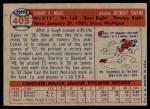 1957 Topps #405  Duke Maas  Back Thumbnail