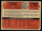 1972 O-Pee-Chee #137  Dick Williams  Back Thumbnail