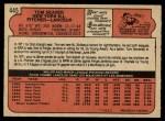 1972 O-Pee-Chee #445  Tom Seaver  Back Thumbnail