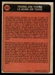 1972 O-Pee-Chee #341   -  Joe Torre Boyhood Photo Back Thumbnail