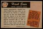 1955 Bowman #279  Hank Soar  Back Thumbnail