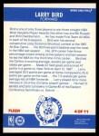 1987 Fleer Sticker #4  Larry Bird  Back Thumbnail