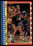 1987 Fleer Sticker #4  Larry Bird  Front Thumbnail