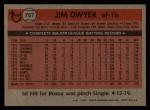 1981 Topps Traded #757 T Jim Dwyer  Back Thumbnail