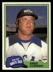 1981 Topps Traded #796 T Greg Luzinski  Front Thumbnail