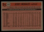 1981 Topps Traded #805 T Jerry Morales  Back Thumbnail