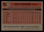 1981 Topps Traded #779 T Mick Kelleher  Back Thumbnail