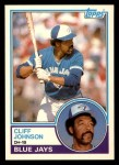 1983 Topps Traded #49 T Cliff Johnson  Front Thumbnail